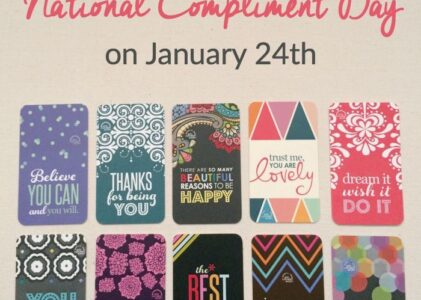 National Compliment Day – January 24th!