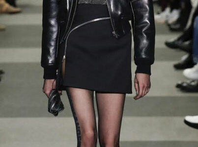 80s Black Leather